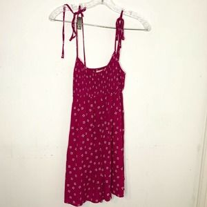 Urban Outfitters Romper Pink Floral Tie Strap